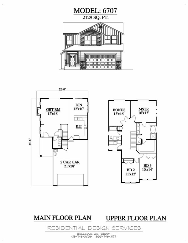 Example6707 for Residential home floor plans